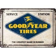 Carte postala metalica 10x14 Goodyear logo