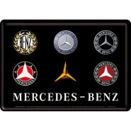 Carte postala metalica 10x14 Mercedes-Benz Logo Evolution