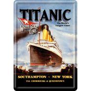 Carte postala metalica 10x14 Titanic