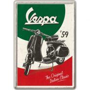Carte postala metalica 10x14 Vespa Italian Classic