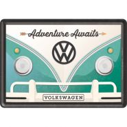 Carte postala metalica 10x14 Volkswagen Adventure Awaits