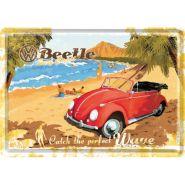 Carte postala metalica 10x14 Volkswagen Ready for the beach
