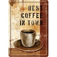 Carte postala metalica Best Coffee