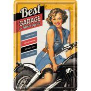 Carte postala metalica Best Garage - Yellow