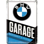 Carte postala metalica BMW Garage