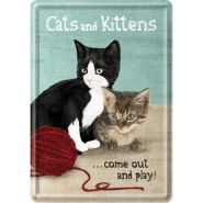 Carte postala metalica Cats and Kittens