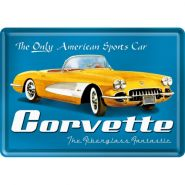 Carte postala metalica Corvette