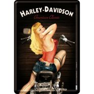 Carte postala metalica Harley-Davidson Biker Babe