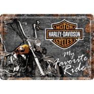 Carte postala metalica Harley-Davidson My Favorite Ride
