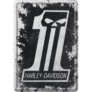 Carte postala metalica Harley-Davidson No.1
