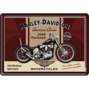 Carte postala metalica Harley-Davidson Panhead