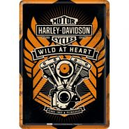Carte postala metalica Harley-Davidson Wild at Heart