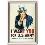 Carte postala metalica I Want You for US Army