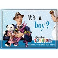 Carte postala metalica It's a Boy?