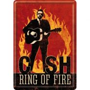 Carte postala metalica Johnny Cash ring of fire