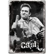 Carte postala metalica Johnny Cash