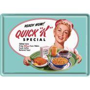Carte postala metalica Kellogg's - Quick K Special