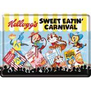 Carte postala metalica Kellogg's Sweet Eatin' Carnival