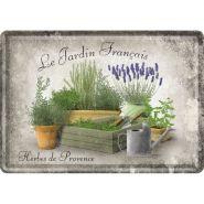 Carte postala metalica Le Jardin Francais