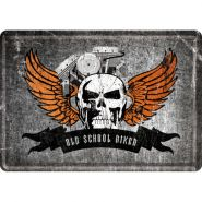 Carte postala metalica Old School Biker