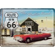 Carte postala metalica Route 66 - Cafe