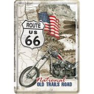 Carte postala metalica Route 66 - National Old Trails Road
