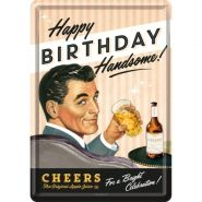 Carte postala metalica Say It 50's Happy Birthday Man