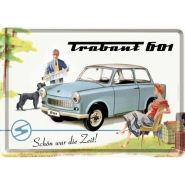 Carte postala metalica Trabant Holiday