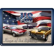 Carte postala metalica US Cars