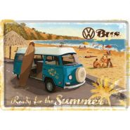 Carte postala metalica Volkswagen - Ready for the summer