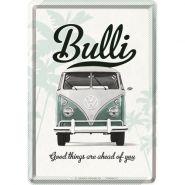 Carte postala metalica VW Bulli - Good things are ahead of you