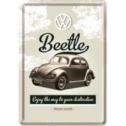 Carte postala metalica VW Retro Beetle