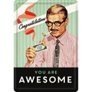 Carte postala metalica You Are Awesome