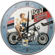 Ceas de perete Best Garage Blue