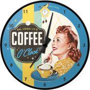 Ceas de perete Coffee O'Clock