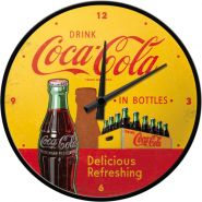 Ceas Perete Coca-Cola In Bottles Yellow