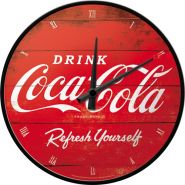 Ceas Perete Coca-Cola Logo Red Refresh Yourself