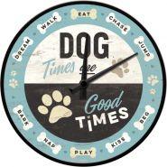 Ceas perete Dog Times