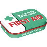 Cutie metalica de buzunar First Aid Green