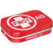 Cutie metalica de buzunar First Aid red