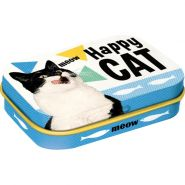 Cutie metalica de buzunar Happy Cat