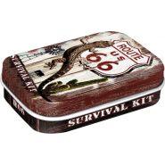 Cutie metalica de buzunar Route 66 Survival Kit