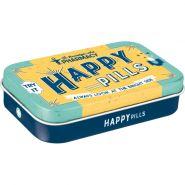 Cutie metalica de buzunar XL Happy Pills
