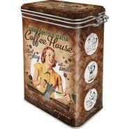 Cutie metalica etansa Coffee House