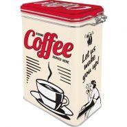 Cutie metalica etansa Strong Coffee Served Here