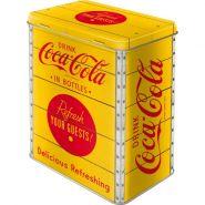 Cutie metalica L Coca-Cola - Logo Yellow