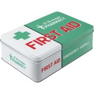Cutie metalica plata First Aid Green