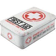 Cutie metalica plata First Aid