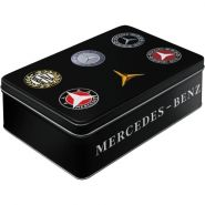 Cutie metalica plata Mercedes-Benz logo evolution