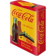 Cutie metalica XL Coca-Cola -In Bottles Yellow
